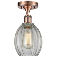 Innovations Lighting 516-1C-AC-G82 Eaton 1 Light 6 inch Antique Copper Semi-Flush Mount Ceiling Light, Ballston