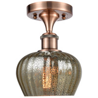 Innovations Lighting 516-1C-AC-G96 Fenton 1 Light 7 inch Antique Copper Semi-Flush Mount Ceiling Light Ballston