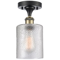 Innovations Lighting 516-1C-BAB-G112 Cobbleskill 1 Light 5 inch Black Antique Brass Semi-Flush Mount Ceiling Light, Ballston