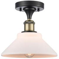 Innovations Lighting 516-1C-BAB-G131-LED Orwell LED 9 inch Black Antique Brass Semi-Flush Mount Ceiling Light Ballston