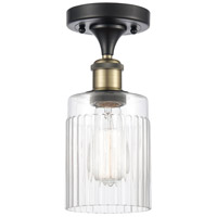 Innovations Lighting 516-1C-BAB-G342-LED Hadley LED 5 inch Black Antique Brass Semi-Flush Mount Ceiling Light Ballston