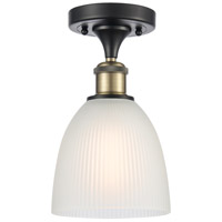 Innovations Lighting 516-1C-BAB-G381 Castile 1 Light 6 inch Black Antique Brass Semi-Flush Mount Ceiling Light Ballston