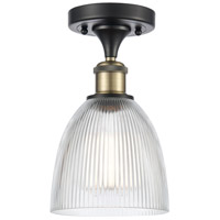 Innovations Lighting 516-1C-BAB-G382 Castile 1 Light 6 inch Black Antique Brass Semi-Flush Mount Ceiling Light Ballston