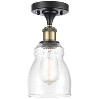Innovations Lighting 516-1C-BAB-G394-LED Ellery LED 5 inch Black Antique Brass Semi-Flush Mount Ceiling Light Ballston
