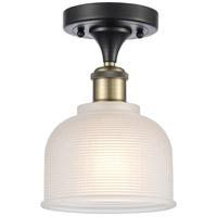 Innovations Lighting 516-1C-BAB-G411-LED Dayton LED 6 inch Black Antique Brass Semi-Flush Mount Ceiling Light Ballston
