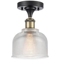 Innovations Lighting 516-1C-BAB-G412-LED Dayton LED 6 inch Black Antique Brass Semi-Flush Mount Ceiling Light Ballston