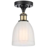 Innovations Lighting 516-1C-BAB-G441 Brookfield 1 Light 6 inch Black Antique Brass Semi-Flush Mount Ceiling Light, Ballston