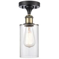 Innovations Lighting 516-1C-BAB-G802 Clymer 1 Light 4 inch Black Antique Brass Semi-Flush Mount Ceiling Light Ballston