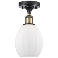 Innovations Lighting 516-1C-BAB-G81 Eaton 1 Light 6 inch Black Antique Brass Semi-Flush Mount Ceiling Light, Ballston