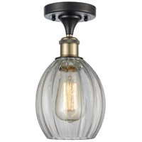 Innovations Lighting 516-1C-BAB-G82-LED Eaton LED 6 inch Black Antique Brass Semi-Flush Mount Ceiling Light, Ballston