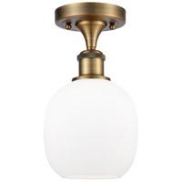Innovations Lighting 516-1C-BB-G101-LED Belfast LED 6 inch Brushed Brass Semi-Flush Mount Ceiling Light, Ballston
