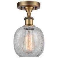 Innovations Lighting 516-1C-BB-G105-LED Belfast LED 6 inch Brushed Brass Semi-Flush Mount Ceiling Light Ballston