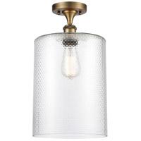 Innovations Lighting 516-1C-BB-G112-L Large Cobbleskill 1 Light 9 inch Brushed Brass Semi-Flush Mount Ceiling Light Ballston