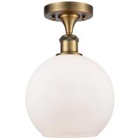 Innovations Lighting 516-1C-BB-G121 Athens 1 Light 8 inch Brushed Brass Semi-Flush Mount Ceiling Light Ballston
