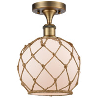Brushed Brass Rope Semi-Flush Mounts