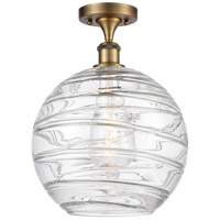Innovations Lighting 516-1C-BB-G1213-12 X-Large Deco Swirl 1 Light 12 inch Brushed Brass Semi-Flush Mount Ceiling Light Ballston