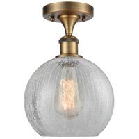 Innovations Lighting 516-1C-BB-G125-LED Athens LED 8 inch Brushed Brass Semi-Flush Mount Ceiling Light, Ballston