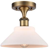 Innovations Lighting 516-1C-BB-G131-LED Orwell LED 9 inch Brushed Brass Semi-Flush Mount Ceiling Light, Ballston
