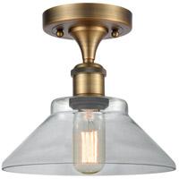 Innovations Lighting 516-1C-BB-G132-LED Orwell LED 9 inch Brushed Brass Semi-Flush Mount Ceiling Light, Ballston