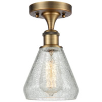 Innovations Lighting 516-1C-BB-G275-LED Conesus LED 6 inch Brushed Brass Semi-Flush Mount Ceiling Light Ballston