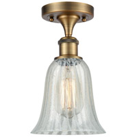 Innovations Lighting 516-1C-BB-G2811-LED Hanover LED 6 inch Brushed Brass Semi-Flush Mount Ceiling Light Ballston