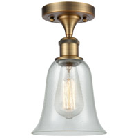 Innovations Lighting 516-1C-BB-G2812-LED Hanover LED 6 inch Brushed Brass Semi-Flush Mount Ceiling Light Ballston