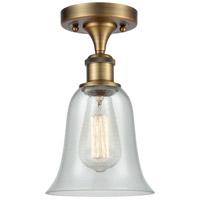 Innovations Lighting 516-1C-BB-G2812-LED Hanover LED 6 inch Brushed Brass Semi-Flush Mount Ceiling Light, Ballston