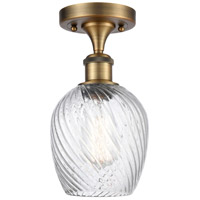 Innovations Lighting 516-1C-BB-G292-LED Salina LED 5 inch Brushed Brass Semi-Flush Mount Ceiling Light Ballston