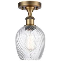 Innovations Lighting 516-1C-BB-G292-LED Salina LED 5 inch Brushed Brass Semi-Flush Mount Ceiling Light, Ballston