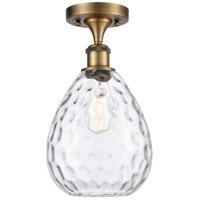 Innovations Lighting 516-1C-BB-G372-LED Large Waverly LED 8 inch Brushed Brass Semi-Flush Mount Ceiling Light, Ballston