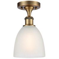 Innovations Lighting 516-1C-BB-G381-LED Castile LED 6 inch Brushed Brass Semi-Flush Mount Ceiling Light, Ballston