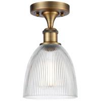 Innovations Lighting 516-1C-BB-G382-LED Castile LED 6 inch Brushed Brass Semi-Flush Mount Ceiling Light, Ballston