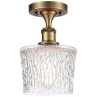 Innovations Lighting 516-1C-BB-G402-LED Niagra LED 7 inch Brushed Brass Semi-Flush Mount Ceiling Light, Ballston