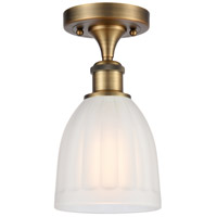 Innovations Lighting 516-1C-BB-G441-LED Brookfield LED 6 inch Brushed Brass Semi-Flush Mount Ceiling Light Ballston