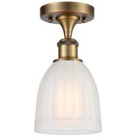 Innovations Lighting 516-1C-BB-G441 Brookfield 1 Light 6 inch Brushed Brass Semi-Flush Mount Ceiling Light, Ballston