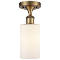 Innovations Lighting 516-1C-BB-G801 Clymer 1 Light 4 inch Brushed Brass Semi-Flush Mount Ceiling Light, Ballston