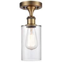 Innovations Lighting 516-1C-BB-G802-LED Clymer LED 4 inch Brushed Brass Semi-Flush Mount Ceiling Light Ballston
