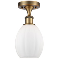 Innovations Lighting 516-1C-BB-G81-LED Eaton LED 6 inch Brushed Brass Semi-Flush Mount Ceiling Light Ballston