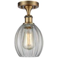 Innovations Lighting 516-1C-BB-G82-LED Eaton LED 6 inch Brushed Brass Semi-Flush Mount Ceiling Light Ballston