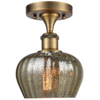 Innovations Lighting 516-1C-BB-G96-LED Fenton LED 7 inch Brushed Brass Semi-Flush Mount Ceiling Light Ballston