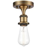 Innovations Lighting 516-1C-BB-LED Bare Bulb LED 5 inch Brushed Brass Semi-Flush Mount Ceiling Light Ballston