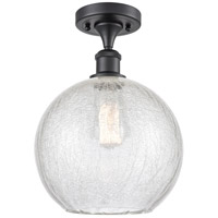 Innovations Lighting 516-1C-BK-G125-10-LED Large Athens LED 10 inch Matte Black Semi-Flush Mount Ceiling Light Ballston