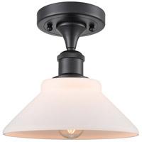 Innovations Lighting 516-1C-BK-G131 Orwell 1 Light 9 inch Matte Black Semi-Flush Mount Ceiling Light Ballston