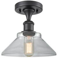 Innovations Lighting 516-1C-BK-G132 Orwell 1 Light 9 inch Matte Black Semi-Flush Mount Ceiling Light Ballston