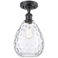 Innovations Lighting 516-1C-BK-G372-LED Large Waverly LED 8 inch Matte Black Semi-Flush Mount Ceiling Light, Ballston