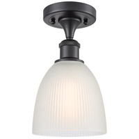 Innovations Lighting 516-1C-BK-G381 Castile 1 Light 6 inch Matte Black Semi-Flush Mount Ceiling Light Ballston
