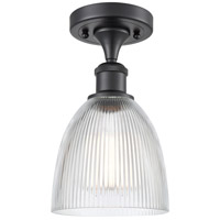 Innovations Lighting 516-1C-BK-G382 Castile 1 Light 6 inch Matte Black Semi-Flush Mount Ceiling Light Ballston