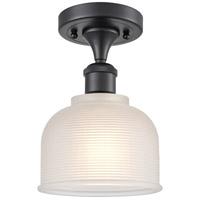 Innovations Lighting 516-1C-BK-G411-LED Dayton LED 6 inch Matte Black Semi-Flush Mount Ceiling Light Ballston