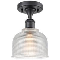 Innovations Lighting 516-1C-BK-G412-LED Dayton LED 6 inch Matte Black Semi-Flush Mount Ceiling Light Ballston