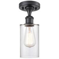 Innovations Lighting 516-1C-BK-G802-LED Clymer LED 4 inch Matte Black Semi-Flush Mount Ceiling Light Ballston